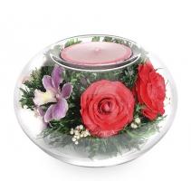 Подсвечник с цветами 30-918