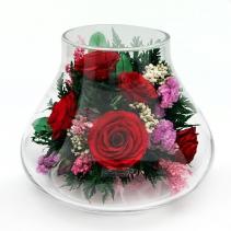 Розы в вазе-бутоне 31-960