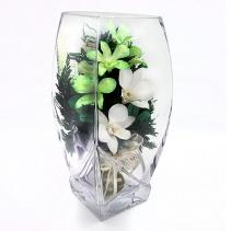 """Орхидеи в вазе 33-087 """"квадратный верх"""""""