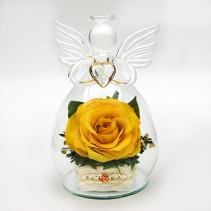 Ангел с желтой розой 35-852 13 см
