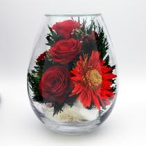 Герберы с розами 38-280