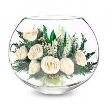 Белые розы 40-983