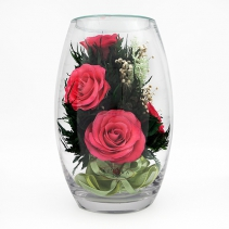 Розовые розы 40-276