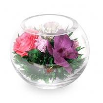 Ассорти из цветов с малом шаре 41-556
