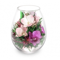 Орхидеи в каплевидной вазе 42-935