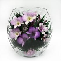 Орхидеи в уплощенной вазе 42-782