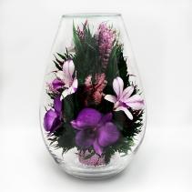 Каплевидная ваза, наполненная орхидеями 42-799