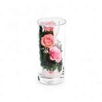 Нежно-розовые розы в цилиндре 44-885