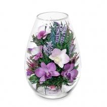 Орхидеи в средней каплевидной вазе 44-755