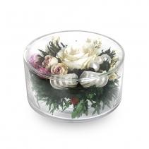 Нежная роза в таблетке из стекла 47-312