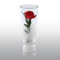 Одна роза в стекле CuHR