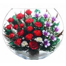 Крупная композиция из роз и орхидей EJM-05