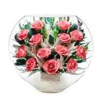 композиция из розовых роз ELRp-01