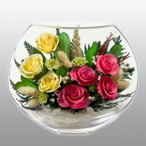микс из разноцветных роз EMR5c-02