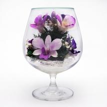 Композиция из натуральных орхидей GSO