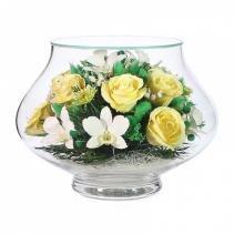 Сочная композиция из роз и орхидей LLMC