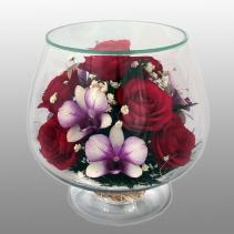 Композиция из роз и орхидей LMM3