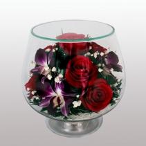 Композиция из роз и орхидей LMM4