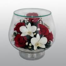 Композиция из роз и орхидей LMM2