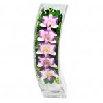 Композиция с орхидеями, ваза Дуга SQCO