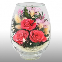 Цветочный букет в стекле VSM