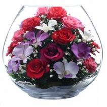 Композиция из роз и орхидей BBM1