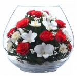 Композиция из роз и орхидей BBM2