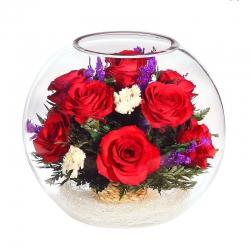 Яркие розы в стеклянном шаре BNR2