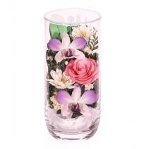 Цилиндр с розами и орхидеями CSM1