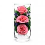 Композиция из розовых роз CSRp