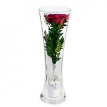 Лиловая роза в стекле CuHRd