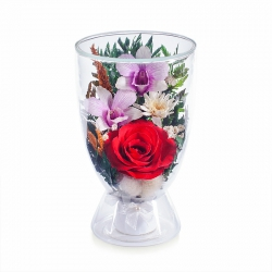 Микс из роз и орхидей culm