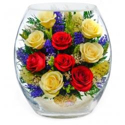 лиловые и кремовые розы ERR5c-01