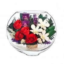 Cмесь орхидей и розочек ESM-03