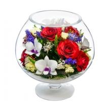 Цветы в большом бокале GJM2