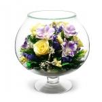 Цветы в коньячном бокале GJM8