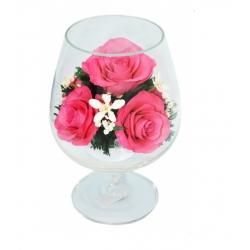 Композиция из розовых роз GSRp
