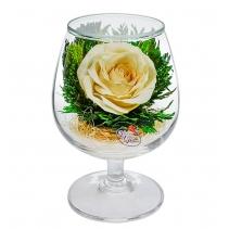 Композиция из кремово-белой розы GSRс