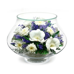 "Белые орхидеи в вазе ""тюльпан"" LLM2"
