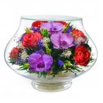 Роскошная композиция из роз и орхидей LLM4