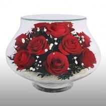 "розы в вазе ""тюльпан"" LLR"
