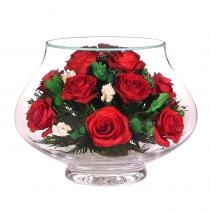 Розы в округлой вазе llr
