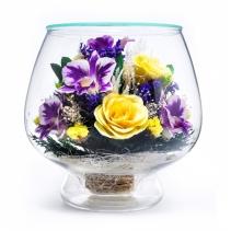 Композиция из роз и орхидей LMM11