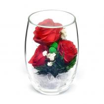 Композиция из натуральных роз RmiR