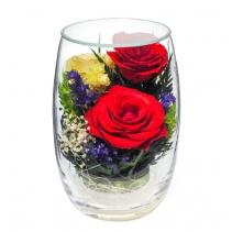Композиция из разноцветных роз RmiR5c1