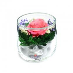 Одна роза розовая SSRp