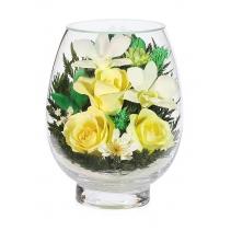 Летний букет из роз и орхидей VSMc