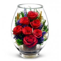 Композиция из роз и хризантемок VSR-03